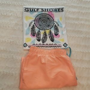 Summer beach bundle men's tee & shorts euc